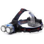 ZHISHUNJIA K82-2T6 2-LED 1800lm 3-Mode White Headlight - Black + Blue