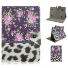 "MOZIX Small Flower Pattern Universal Protective Flip-Open PU Leather Case for 7"" Tablet"