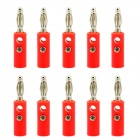 Jtron 4mm Banana Plug Connector with Fixed Screw (10PCS)