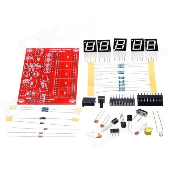 1Hz - 50MHz cristal oscilador cinco LED Display Kit medidor de freqüência