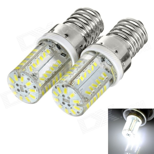 E14 3.5W 180lm 58-SMD 3014 LED ampoules blanches froides (110 / 220V / 2PCS)