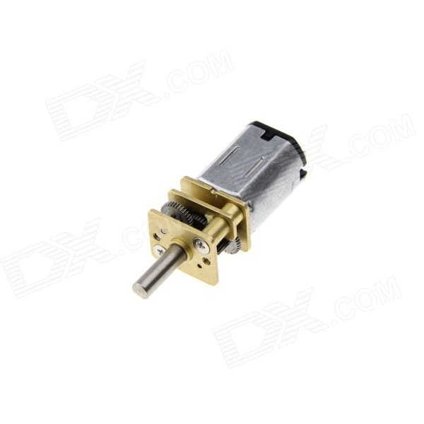 12GA6V-400RPM Robot Motor Smart Car Toy Gearmotor Miniature DC MotorMotors<br>ColorSilver GreyModelN/AQuantity1 PieceMaterialABS+ brass + iron + steelRate Voltage6VPower Range3-6VInput Voltage6 VRevolutions Per Minute (RPM)400RPMWorking Current10 mAEnglish Manual / SpecNoPacking List1 x Gear motor<br>