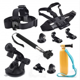 Sports Camera Accessories Kit for GoPro Hero / SJ4000 / Xiaoyi - Black