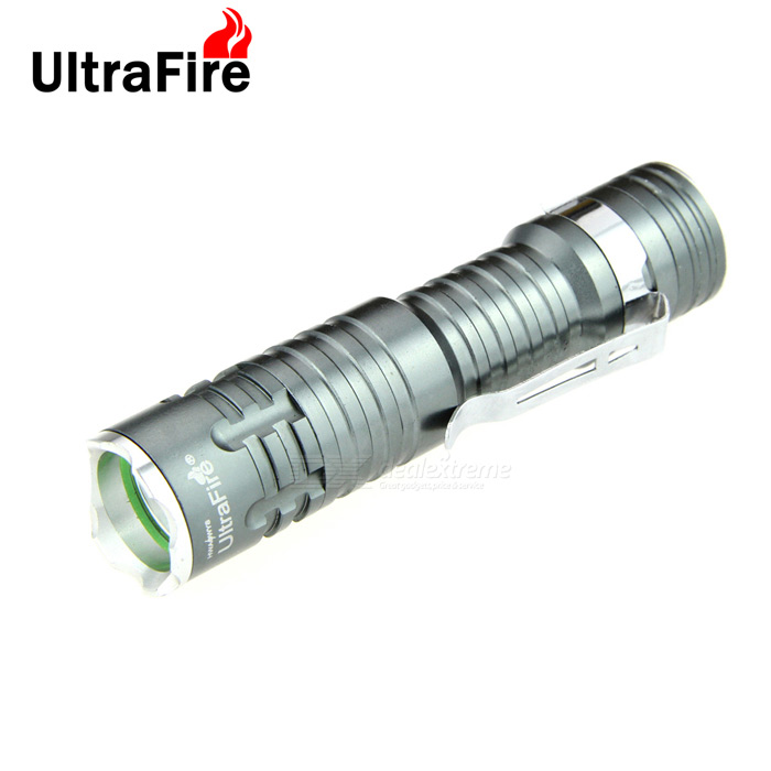 Ultrafire XP-E Q5 1-LED 400lm 3-Mode White Light Flashlight - Grey