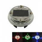 Solar Powered Car Wheel Automatic Induction LED Lamp - White + Transparent