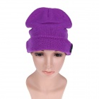 Stylish Wireless Bluetooth V3.0 Warm Music Hat w/ Hands-Free Calling for Cell Phone - Purple