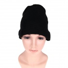 Stylish Wireless Bluetooth V3.0 Warm Music Hat w/ Hands-Free Calling for Cell Phone - Black
