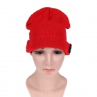 Stylish Wireless Bluetooth V3.0 Warm Music Hat w/ Hands-Free Calling for Cell Phone - Red