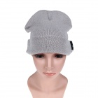 Stylish Wireless Bluetooth V3.0 Warm Music Hat w/ Hands-Free Calling for Cell Phone - Grey