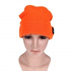 Stylish Wireless Bluetooth V3.0 Warm Music Hat w/ Hands-Free Calling for Cell Phone - Orange