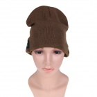 Stylish Wireless Bluetooth V3.0 Warm Music Hat w/ Hands-Free Calling for Cell Phone - Brown