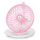 USB 5V Coffee Cup Desktop Style 2-Mode Hanging vent fort Fan - blanc + rose