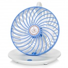 USB 5V Coffee Cup Style Desktop 2-Mode Hanging Strong Wind Fan - White + Blue