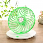 USB 5V Coffee Cup Style Desktop 2-Mode Hanging Fan - White + Green