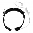 Cwxuan Adjustable Throat-Vibration Anti-Radiation In-Ear Air Duct Earpiece Earphone w/ Mic - Black
