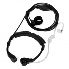 Cwxuan Throat Adjustable Vibration Air Duct Earpiece w/ Mic - Black