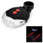 7-Mode 5-LED Colorful Light Bike Safety Tail Lamp w/ 2-Mode Parallel Red Laser - Black (2 x AAA)