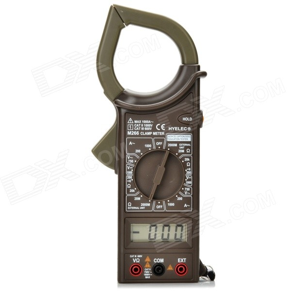 "HYELEC M266 Digital 1.9"" LCD 1000A Clamp Multimeter (1*6F22)"
