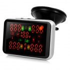 "2.8"" LED Screen Built-in Car Tire Pressure Gauge Monitoring System - Black"