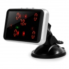 "2.8"" LED Screen Built-in Car Tire Pressure Monitoring System - Black"