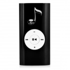 Musical Note Pattern Portable Rechargeable MP3 Player w/ Loudspeaker / TF / Clip - Black + White