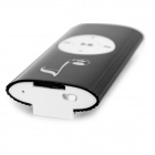 Musical Note Pattern MP3 Player w/ Loudspeaker, TF - Black + White