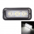 MZ Wired 9W 3-LED Car Flashing Warning Signal Lamp White Light 6500K 540lm - Black (12~24V)