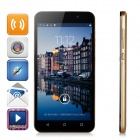 "4X MT6582 1.3GHz Android 4.4 Quad-Core 3G Phone w/ 5.5"" IPS, 4GB ROM, 4.97MP+0.3MP - Black + Golden"