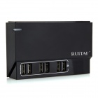 RUITAI 50W 6-Port Portable Smart Identification Desktop Charger - Black (US Plug)