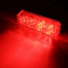 MZ 12W Red 4-LED Car Flashing Warning Signal Lamp - Black (12~24V)