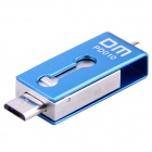 DM PD010 16GB USB 2.0 OTG muistitikku twin liittimet - sininen