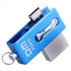 DM PD010 32GB USB 2.0 OTG muistitikku twin liittimet - sininen