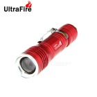 UltraFire XP-E Q5 1-LED 400lm 3-Mode Cool White Light Zooming Flashlight - Red (1 x 18650)