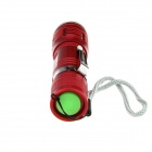 Ultrafire XP-E Q5 1-LED 3-Mode Cold White Zooming Flashlight - Red
