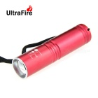 Ultrafire HP-1 XP-E R5 LED 400lm 3-Mode White Zooming Flashlight - Red (1 x 14500 / 1 x AA)
