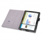 PU Case Cover w/ Stand & Hand Strap for Surface Pro 3 - Black