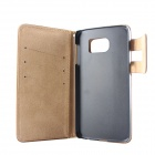 Wallet Style Case w/ Card Slots for Samsung Galaxy S6 - Brown