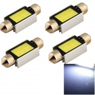 YouOKLight 39mm 6W 520lm 6-COB LED White Light Car Reading Lamp Dome Bulb (12V / 4 PCS)