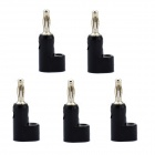 Jtron 4mm banana plugs para BINDING POST test sondas amplificadores - preto (5 pcs)