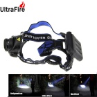 UltraFire XM-L T6 1-LED 900lm 3-Mode White Light Zooming Headlamp Headlight - Black + Blue (4 x AA)