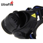 UltraFire LED 900lm 3-Mode White Light Zooming Headlamp - Black + Blue