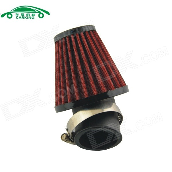 CARKING Mushroom Head Style Motorcycle Air Filter - Red + Black (42mm)