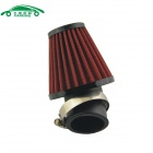 CARKING Universal Mushroom Head Style Motorcycle Air Filter - Red + Black (42mm)