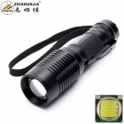 ZHISHUNJIA 101B-T6 XM-L2 T6 LED 900lm 5-Mode White Zooming Flashlight - Black  (1 x 18650 / 3 x AAA)