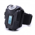 ZHISHUNJIA Z8 XP-E Q5 Wrist Lamp Flashlight w/ Digital Watch - Black