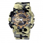 SANDA SD-299 30m Waterproof Double Display Multi-Functional Outdoor Sports Watch - Camouflage
