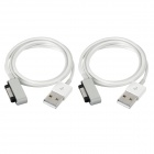 MINI SMILE USB 2.0 to Magnetic Charging Cables for Sony Z3 / Z3 Mini - White (2 PCS)