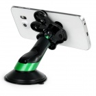 "Palm Style Suction Cup Car Mount for 4.0~5.5"" Phone - Black + Green"