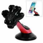 "Palm Style Suction Cup Car Mount for 4.0~5.5"" Phone - Black+Deep Pink"