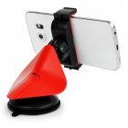 360' Rotary Car Suction Cup Mount for Mobile Phones - Black + Red